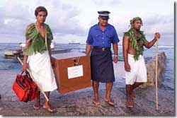 The ballot box arrives on Atafu
